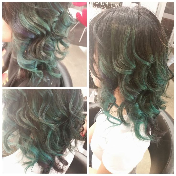 Irish shimmer  Funk up your hair with a celtic colour. Creative colourist: Lani - Hue, Mt Eden #Greenhair