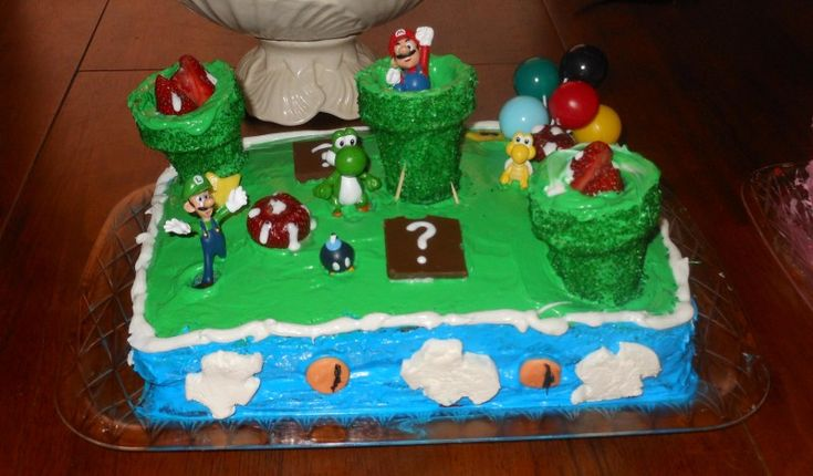 cool boy birthday cakes | Cool Mario-Themed Cake for 6-Year-Old Boy - Coolest Birthday Cakes