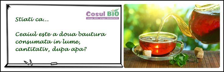 Stiati ca ceaiul este a doua bautura consumata in lume, cantitativ, dupa apa?