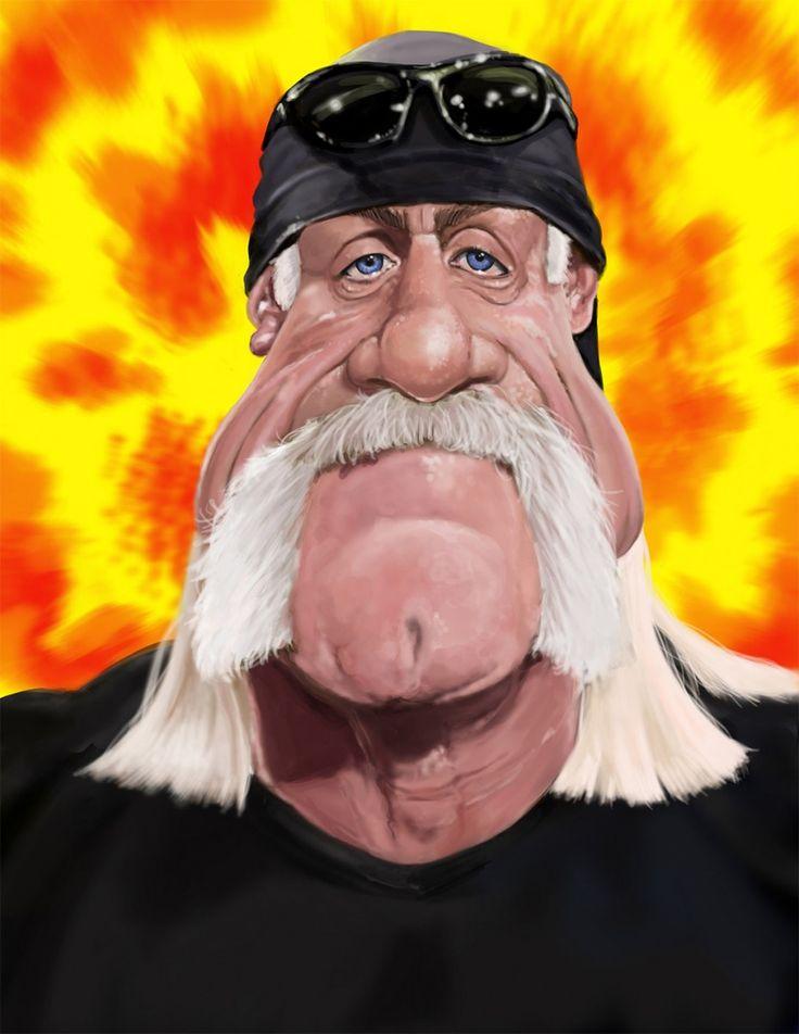 Caricatura de Hulk Hogan http://www.pinterest.com/armandoop/humor/