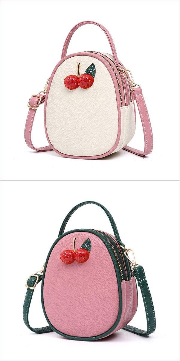 Women s Cute Cherry Decoration Summer Handbag  b10400e0b4