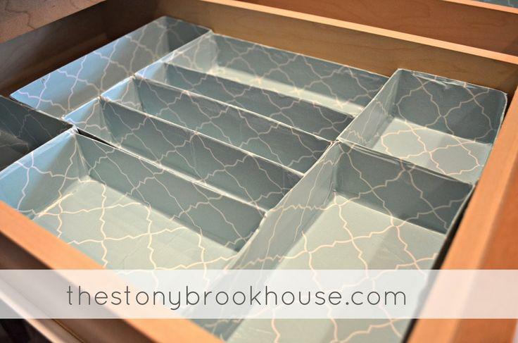 The Stonybrook House: How To Make Customized Drawer Organizers Cheap! {Project Organization 2014} Pretty, Pretty!!