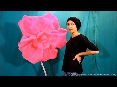 (8) Большой цветок из изолона - YouTube
