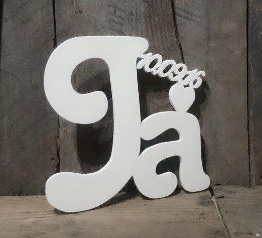 Weiteres - Ja-Wort mit Datum und Herz - ein Designerstück von Julies_Welt bei DaWanda