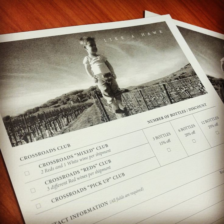 Off-set printed wine club forms for a Hill Family Estate. #hillfamilyestate #businessprinting #wineclub
