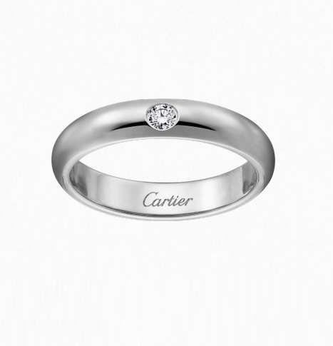 Fedi nuziali 2016 - Fede in platino Cartier