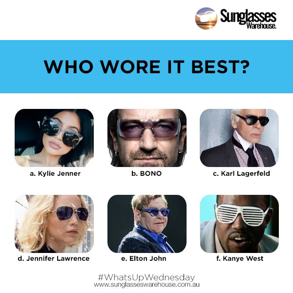 #WhatsUpWednesday: Celebrities are our guide to a great fashion sense. They all have different tastes and some of them match our interests. Among the six celebrities with their different eye wear trends, who wore their sunglasses best?  Read the full article here: https://goo.gl/VPwIEf