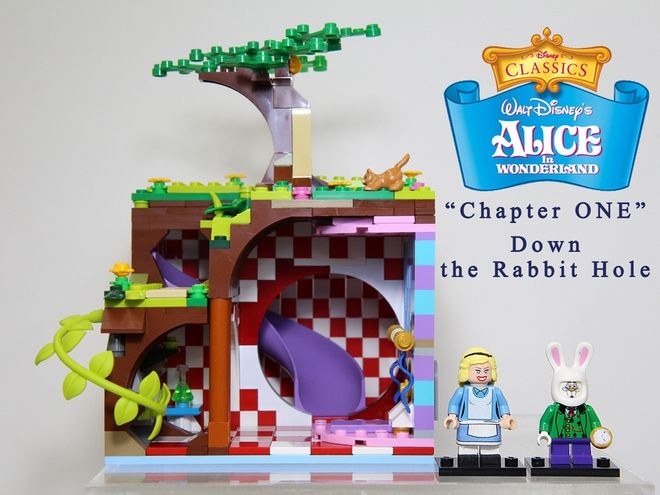 LEGO Ideas - Alice in Wonderland (Chapter One – Down the Rabbit Hole)