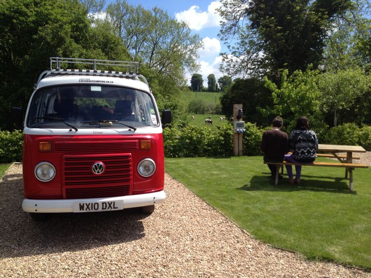 VW on romantic pitch @ Stonehenge Campsite overlooking water meadows   From £15-£25/night www.stonehengecpsite.co.ul
