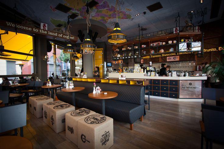 Bruno Coffee Stores |Larisa-Greece , by Dimitris Koukoudis Architect
