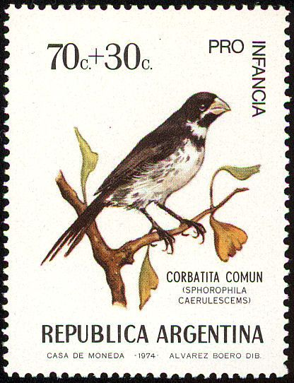 Double-collared Seedeater stamps - mainly images - gallery format