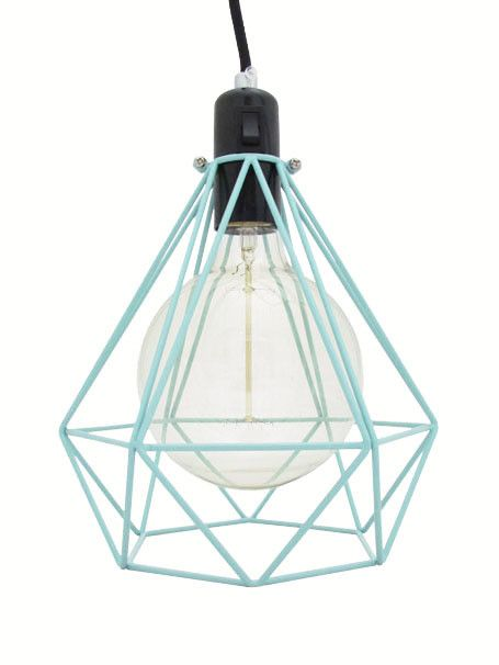 Diamond Cage Lamp Mint