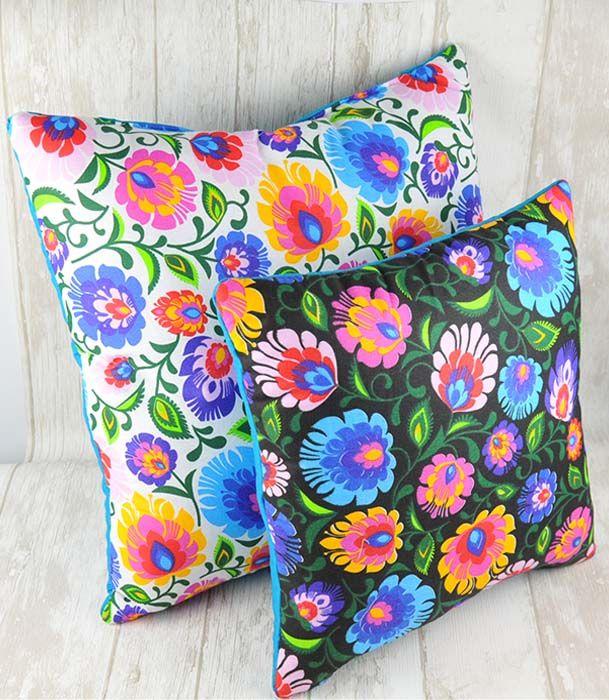 Poduszki folkowe motyw łowicki  Decorative pillows folk