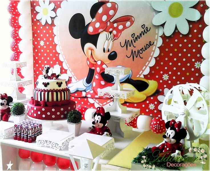 **LOCAÇÃO COMPLETA DECORAÇÃO FESTA INFANTIL**  Aluguel Decoração Minnie Mouse Vermelha Tema Completo em Provençal Para Festas Infantis, Locação de Provençal Clean de Primeira Classe!
