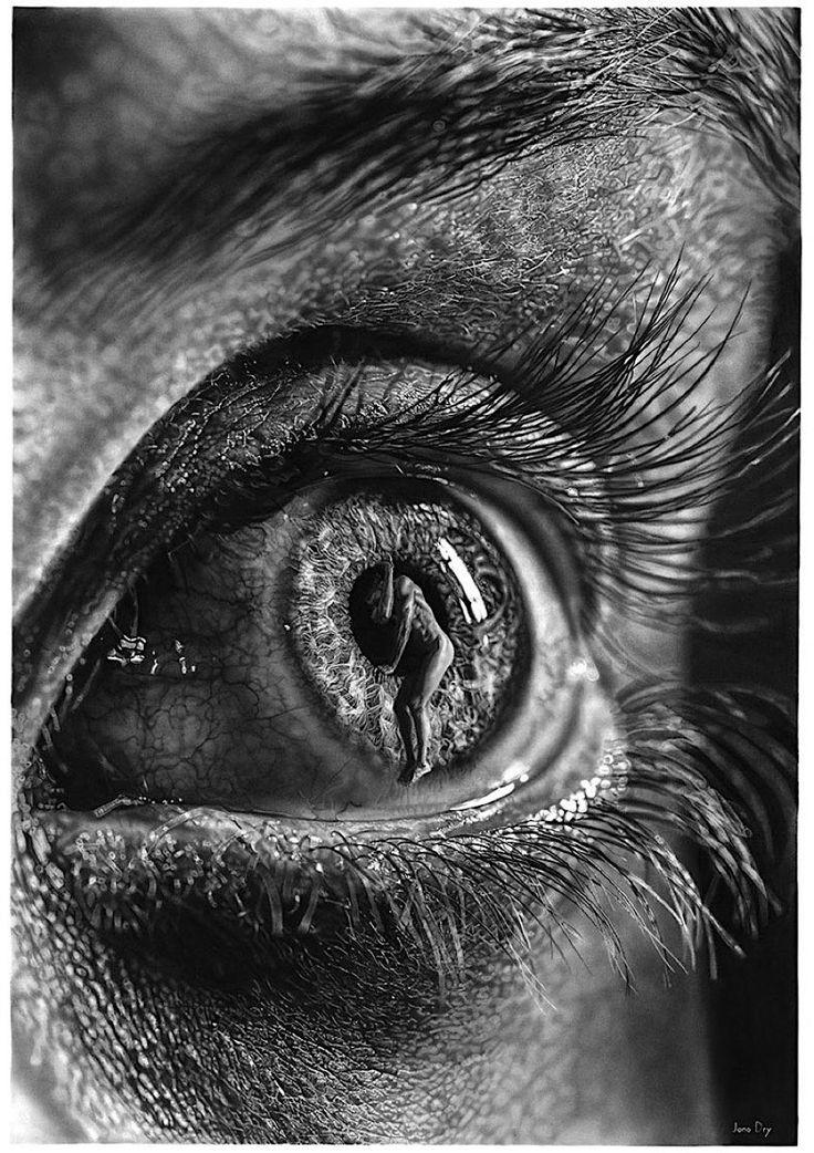 Die extrem realistischen Bleistift-Bilder von Jono Dry
