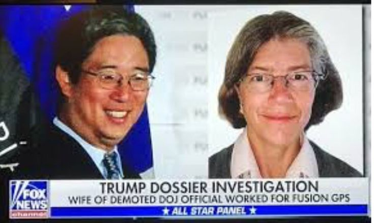 Nellie Ohr (Fusion GPS) was paid by Hillary to fabricate the dossier with Steele. Her husband Bruce Ohr (DOJ) used it to defraud the FISA Court to spy on Trump in an attempted coup to remove him. FBI & DOJ out of control. House and Senate do your job!