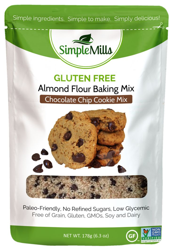 Almond flour chocolate chip cookie mix food baking with