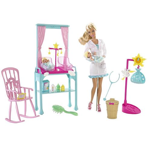 Barbie I Can Be Doll Playset Newborn Baby Doctor Toys