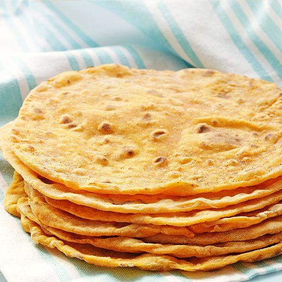 Sweet Potato Flatbread / Roti - the oldest and easiest bread to make; vegan, fat-free, full of fibers