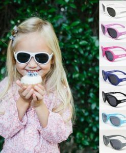 Babiators | Sunglasses for Kids | Classic (3-6 yrs) Babiators Kids Sunglasses Provide 100% protection against UVA and UVB with our super cool sunglasses for kids – Babiators!  Made from high quality rubber resulting in super flexible frames, these fun kids sunnies are virtually unbreakable.  The aviator style lenses are shatter- and impact-resistant and Babiators are BPA-free too.  We all know that adults love to wear sunglasses – now you can protect your kids eyes too and they will have fun