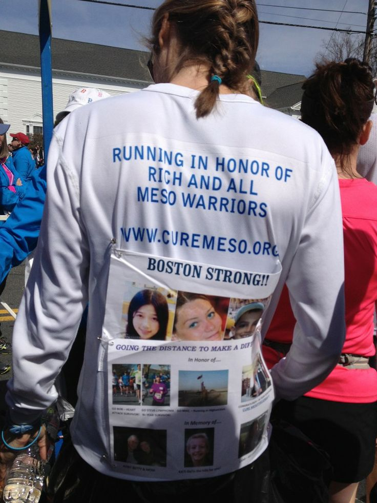 Runners ran for heart causes (raising more than $13 mill) & for friends injured & killed.