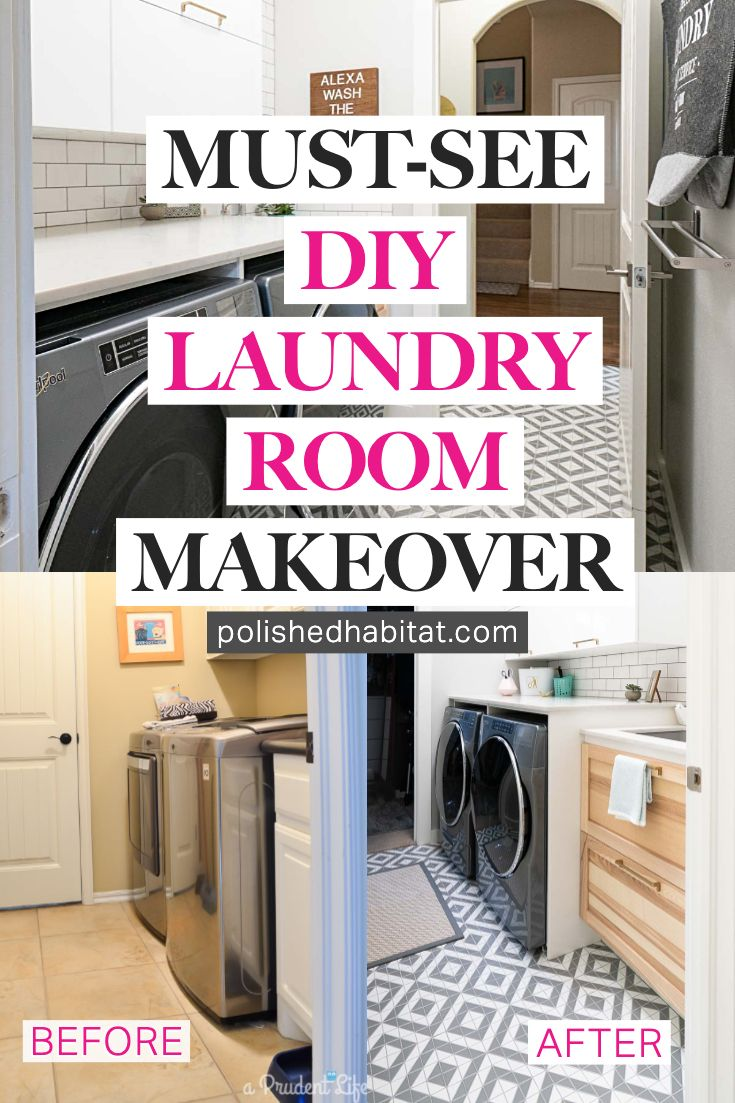 This Diy Small Laundry Room Makeover Was A Dramatic Change In Both