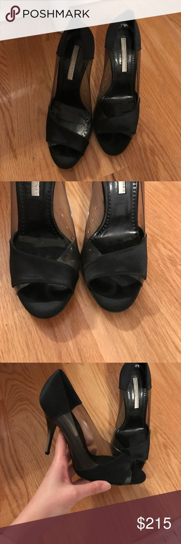 🎉SALE🎉 Stella McCartney black open toe heels Excellent condition, don't even look used! I've worn these once to a party, the soles do have very little wear on them, see photos. 100% authentic. I guarantee authenticity as these were purchased by me. I no longer have the receipt or box. 🎉TODAY ONLY SALE! ALL OFFERS WILL BE REJECTED! Bundle and save!! 🎉 Stella McCartney Shoes Heels