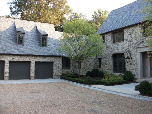 Limestone U0026 Boxwoods   Perfect English   Benecki Fine Homes   Pea Gravel  Motorcourt