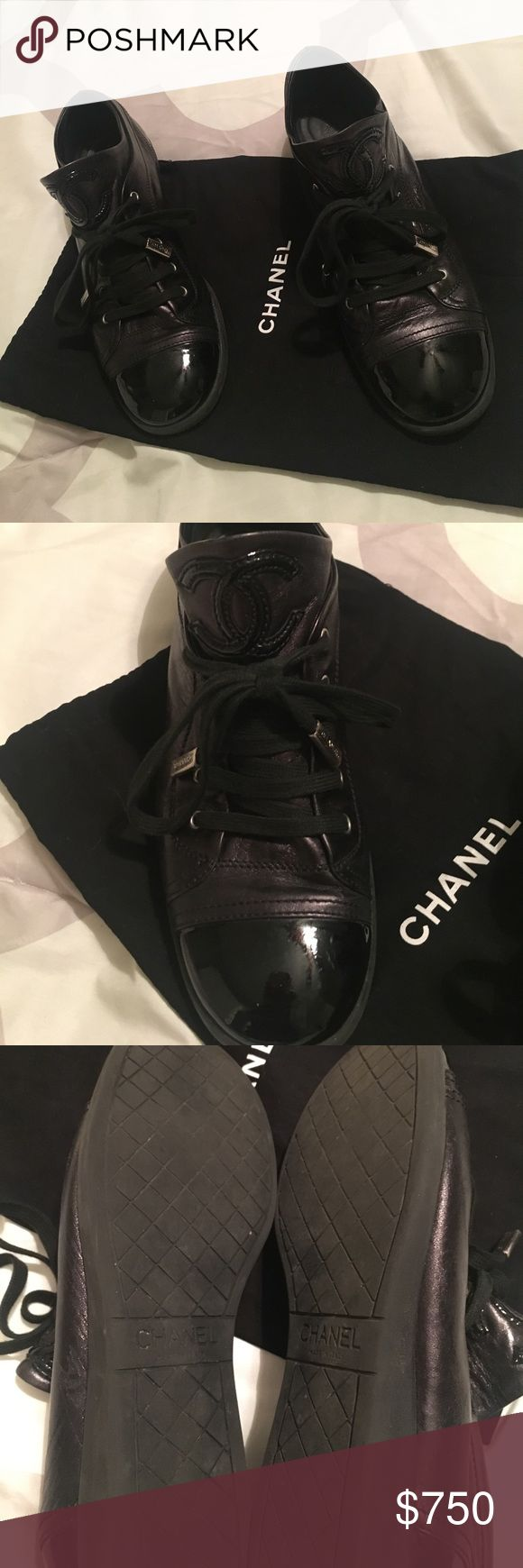 Chanel tennis shoes 100% authentic. Used. CHANEL Shoes Sneakers