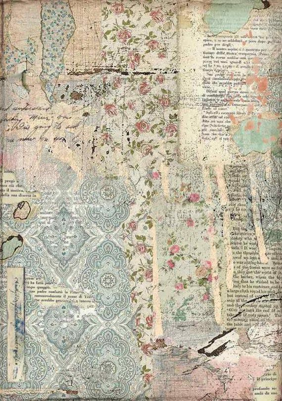 A4 Rice Paper Vintage Wallpaper Style Decoupage Paper Patterned Scrapbook Sheet In 2020 Vintage Scrapbook Paper Decoupage Paper Printable Decoupage Paper