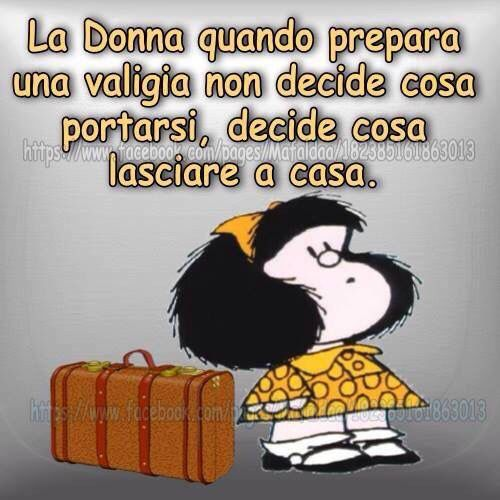 Mafalda - la donna quando prepara una valigia ...