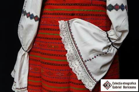 Romanian blouse sleeve detail. Gabriel Boriceanu collection