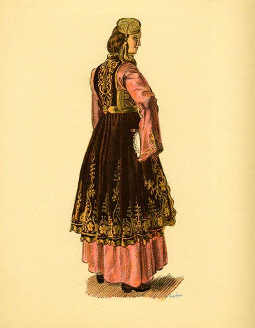 Φορεσιά Ιωαννίνων. Costume from Jannina.Collection Peloponnesian Folklore Foundation, Nafplion. All rights reserved.