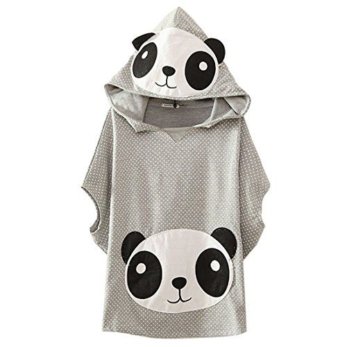 Panda-Head-Womens-V-neck-Dot-Hoodie-100-Cotton-Sleeveless-Pullover