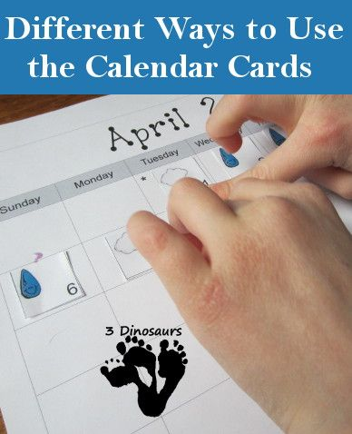 Different Ways to Use the Calendar Cards - 3Dinosaurs.com
