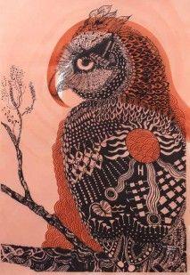 Owl of Protection (16/30) by Joshua Yeldham