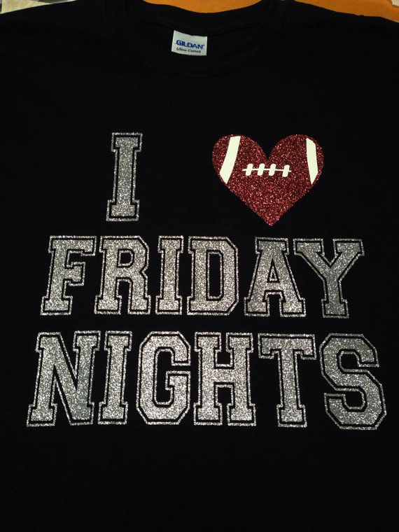I Love Friday Nights High School Football Spirit by MissyLuLus, $20.00