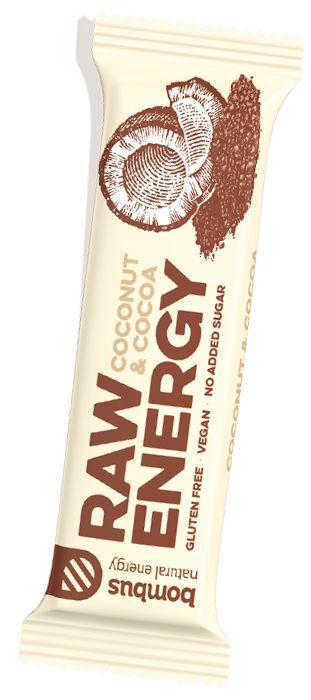 Bombus tyčinka kakao a kokos RAW 50g