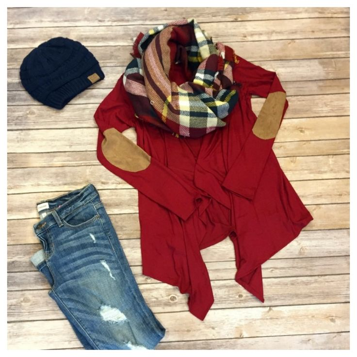 Beautiful open front burgundy cardigan. Accented with elbow patches. Pair with a blanket scarf and CC Beanie to complete your look! Fit is true to size. Made in USA! | Shop this product here: http://spreesy.com/Littleanchor/71 | Shop all of our products at http://spreesy.com/Littleanchor    | Pinterest selling powered by Spreesy.com