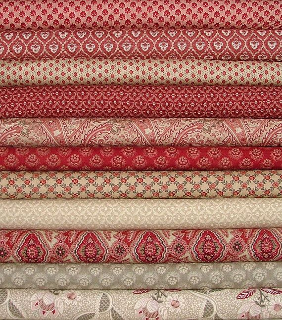 Chateau Rouge Josephine & Rue Indienne Rouge by SistersandQuilters