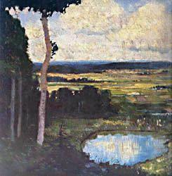 Josef Váchal - Landscape #painting #Czechia #graphics #art