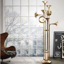 Art Creative Delightfull Horn Chandelier Floor Lamp Modern Simple Dinning Room Stand Light Retro Iron Poti Trumpet Floor Lamp(China (Mainland))