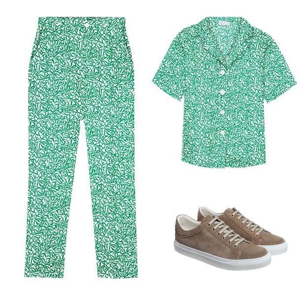 le pantalon darina et la chemise abigaelle pourront être portés avec les sneakers new come agnès b.
