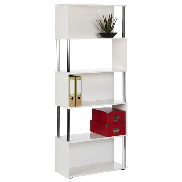 Hummingbird Hayes Chrome and Gloss Bookcase