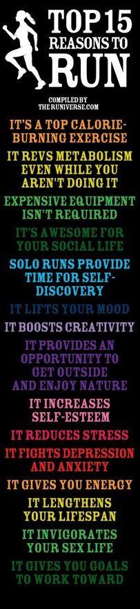 Run!: Start Running, Tops 15, Inspiration, Why I Running, 15 Reasons, Running Body, Motivation To Start Over, Reasons To Running, Runners Body