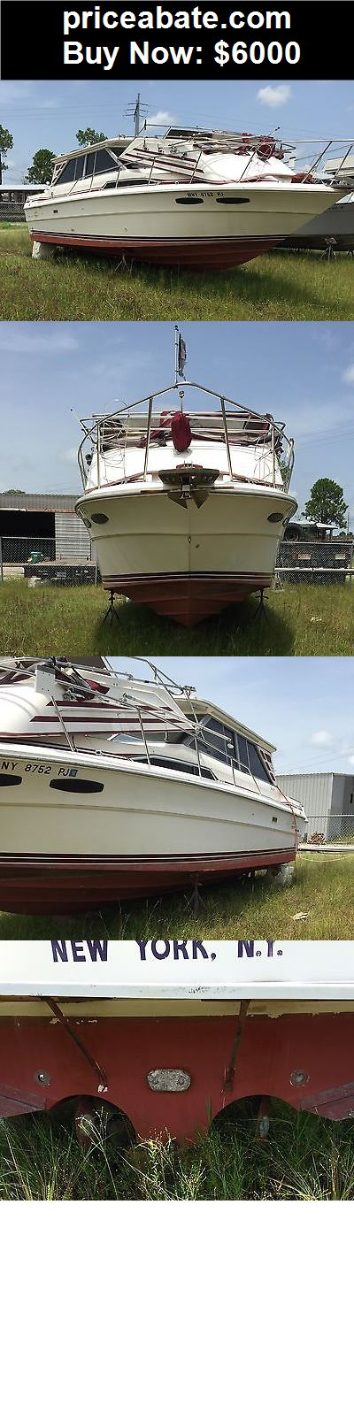 Boats: 1985 34 foot SeaRay yacht with a sedan bridge - BUY IT NOW ONLY $6000