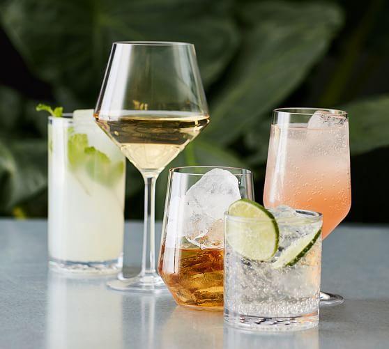 Happy Hour Tritan Wine Glasses, Set of 4 | Pottery Barn