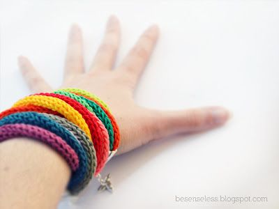 ray of light crochet bracelets/ braccialetti a uncinetto