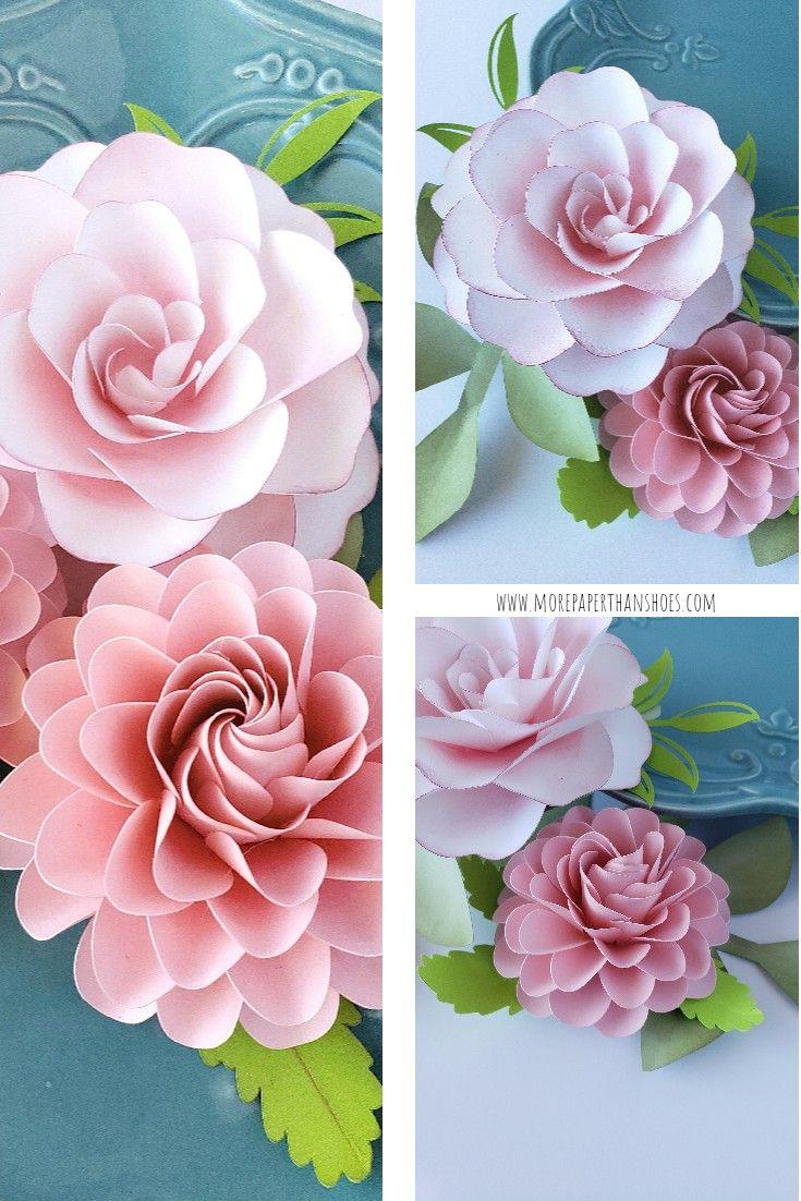 Easy Paper Flower Tutorials Diy Flowers Handmade Paper Flower