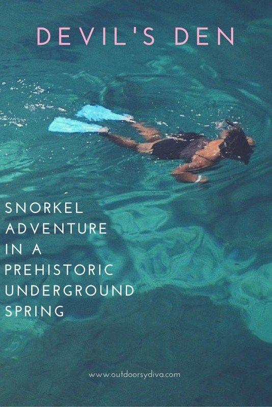Florida's best kept secret. Snorkeling Devil's Den Underground Spring in a prehistoric cavern. www.outdoorsydiva.com